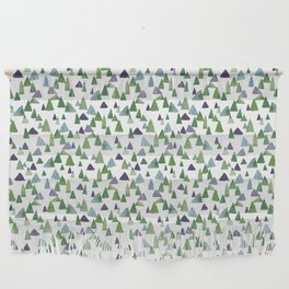 Abstract Watercolor Forest Wall Hanging