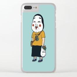 Joyful Girl Clear iPhone Case