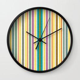 retro stripe Wall Clock
