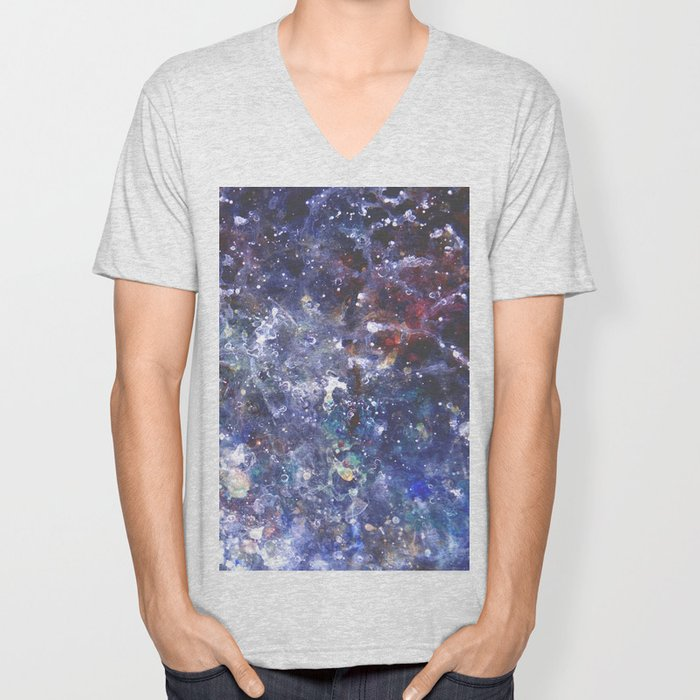 Pouring Galaxy Unisex V-Neck
