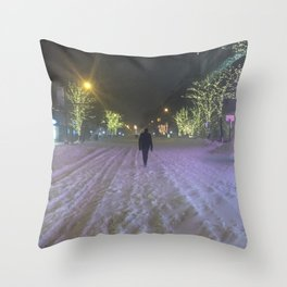Commute Blizzard of 2016 Throw Pillow