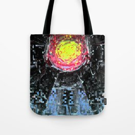 in explicable doses where wills mingle obligingly. Tote Bag