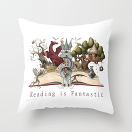 Reading is Fantastic Throw Pillow