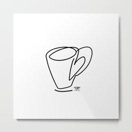 Cuppa Candor [Ivory] Metal Print