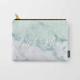 Bitch Please Green Marble Carry-All Pouch