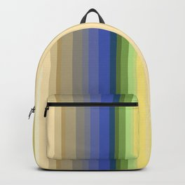 Multi-colored striped pattern . Backpack