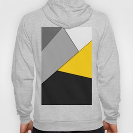 Simple Modern Gray Yellow and Black Geometric Hoody