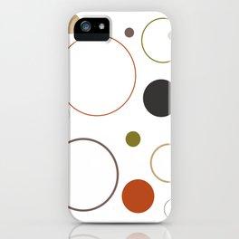 Earth Tone Circles iPhone Case