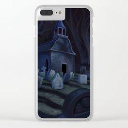 Sleepy Hollow Churchyard Cemetery Clear iPhone Case