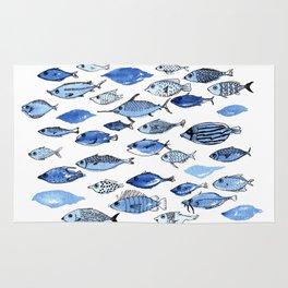 Aquarium blue fishes Rug