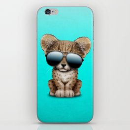 Cute Baby Cheetah Wearing Sunglasses iPhone Skin