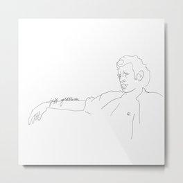 Jeff Goldblum, With Text Metal Print