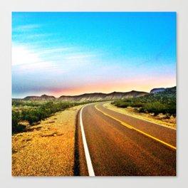 Open Road in Big Bend Canvas Print