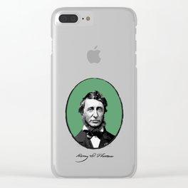 Authors - Henry David Thoreau Clear iPhone Case