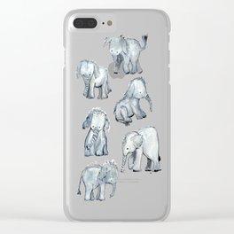 Little Elephants Clear iPhone Case