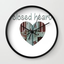 Closed art Illustration Wall Clock