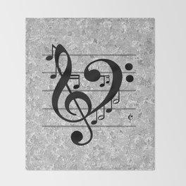 Love Music Throw Blanket
