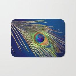 peacock feather Bath Mat