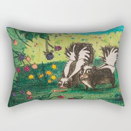 Skunk Picnic Rectangular Pillow