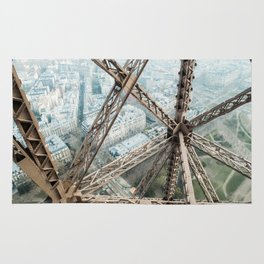 Looking Down on the Eiffel Tower Rug