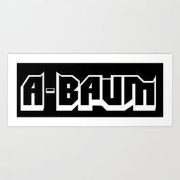 The A-BAUM Logo White Art Print