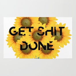 get shit done Rug
