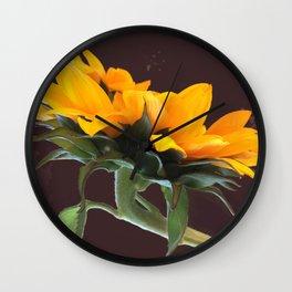 Sunflower Power-Up Wall Clock