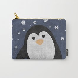 Christmas Penguin Marble Carry-All Pouch