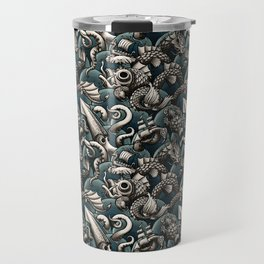 Sea Monsters Travel Mug