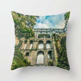 Cesky Krumlov gate Throw Pillow
