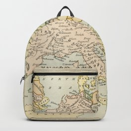 Old Map of Europe under the Empire of Charlemagne Backpack