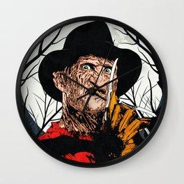 """Freddy Krueger """"SLEEP KILLS!"""" Wall Clock"""