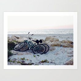 Captiva Island Bikes by Ocean Art Print