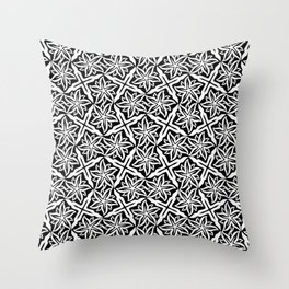 Jasmine and Stars - Color: Black&White Throw Pillow