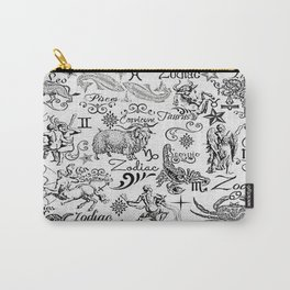 ZODIAC CANVAS CALLIGRAPHY Carry-All Pouch
