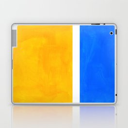 Primary Yellow Cerulean Blue Mid Century Modern Abstract Minimalist Rothko Color Field Squares Laptop & iPad Skin
