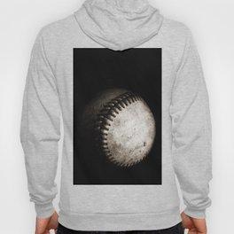 Battered Baseball in Black and White Hoody