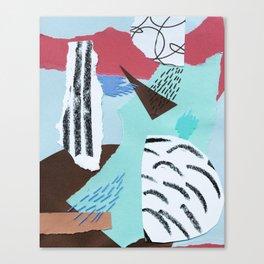 pastels paper collage Canvas Print