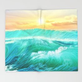 Light in a storm Throw Blanket