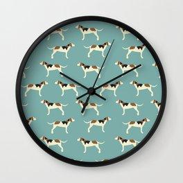 Tree Walker Coonhound in blue Wall Clock