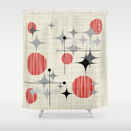 Mid Century Modern Starbursts And Globes 2a Shower Curtain