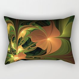 Fantasy Plant, Abstract Fractal Art Rectangular Pillow