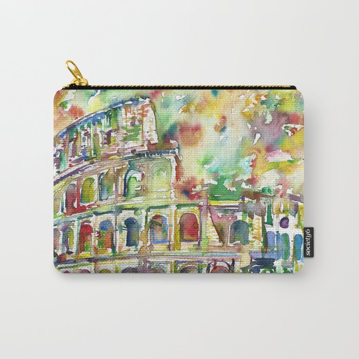 COLOSSEUM - watercolor painting Carry-All Pouch