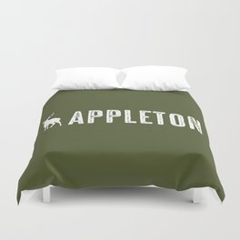 Deer: Appleton, Wisconsin Duvet Cover