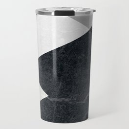 Geometrics - marble & silver Travel Mug