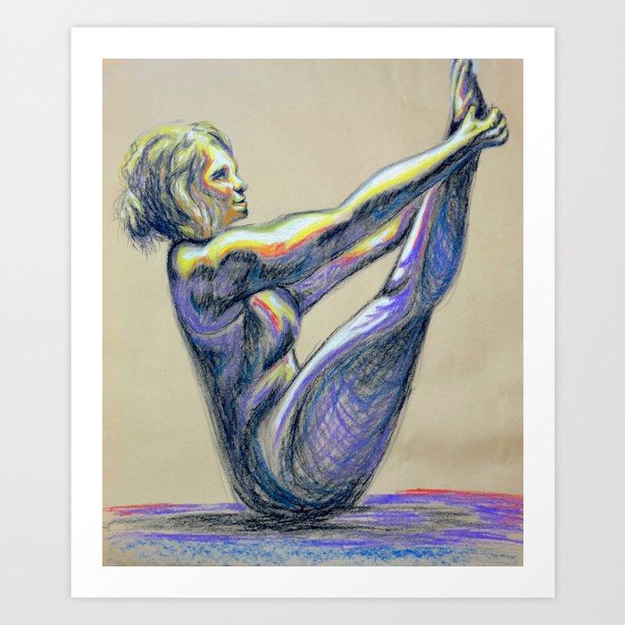 Uplifted Yogi Art Print