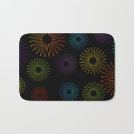 Colorful Christmas snowflakes pattern- holiday season gifts- Happy new year gifts Bath Mat