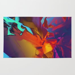 New Dream. Blue, Yellow and Red Abstract. Rug