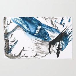 True Blue Jay Rug