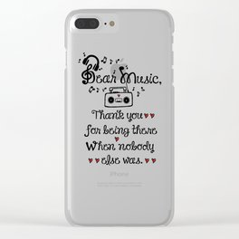 Dear music Clear iPhone Case
